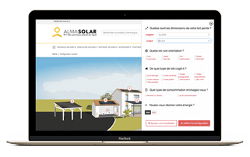 solar configurator for saving energy