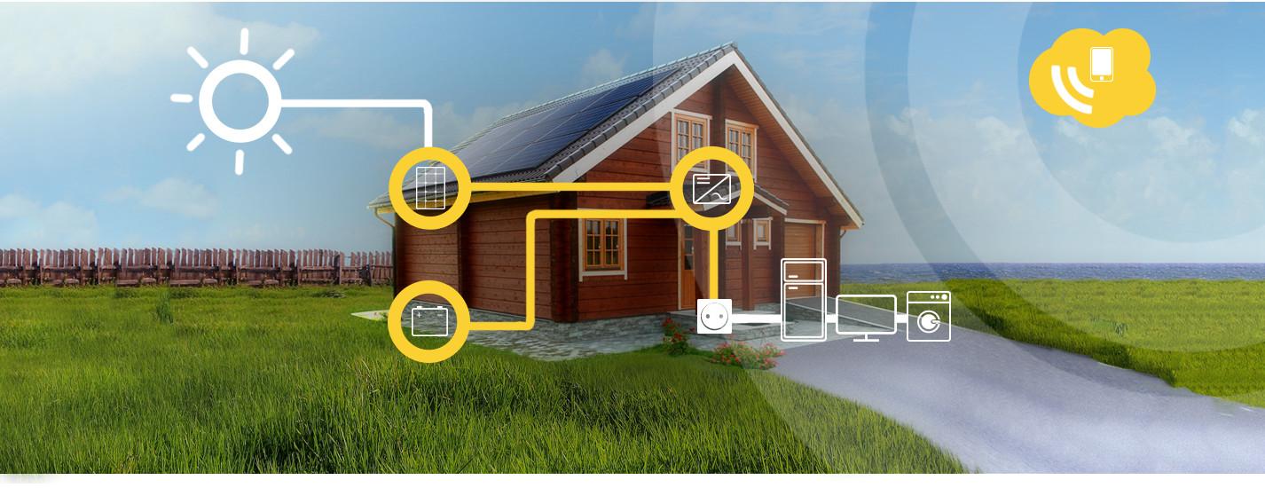 Self consumption photovoltaic alma solar home