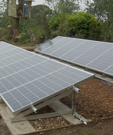 solar panels in the garden at the best price
